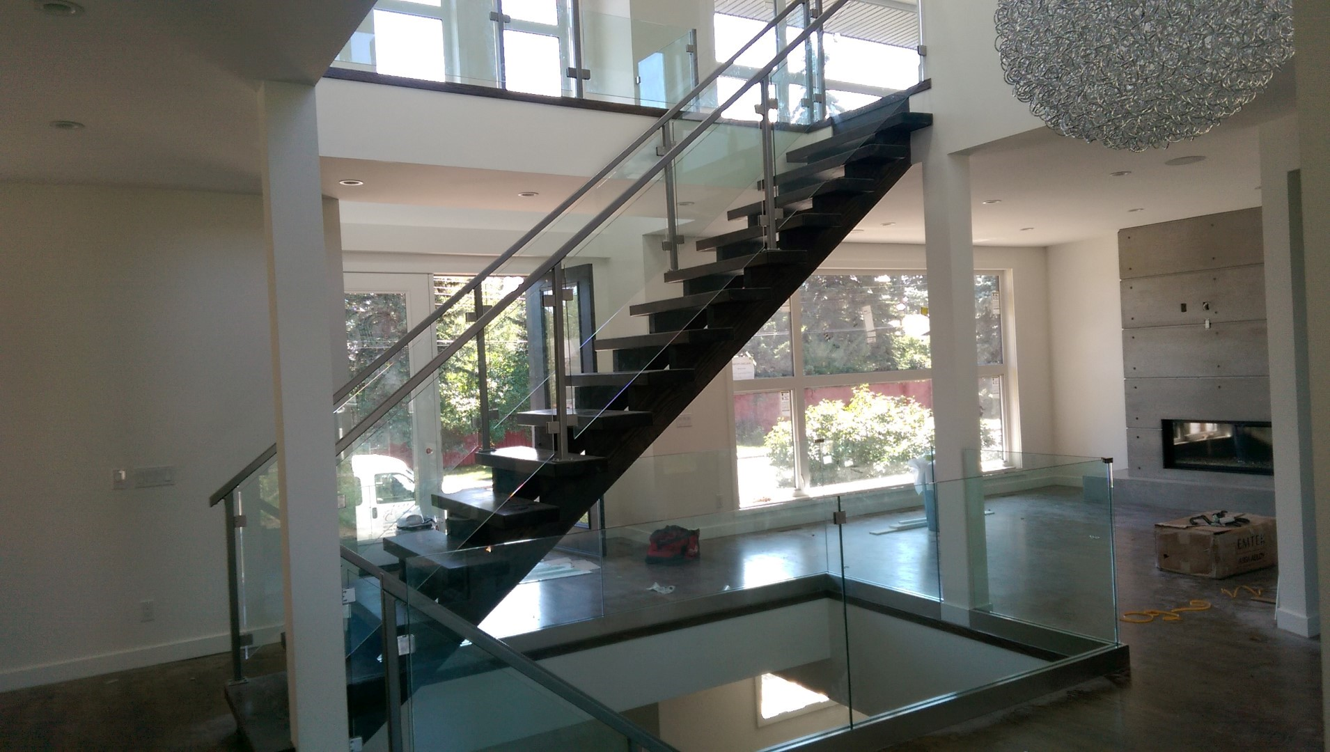 railings systems metal and springfield tech custom railing stair system ma interior