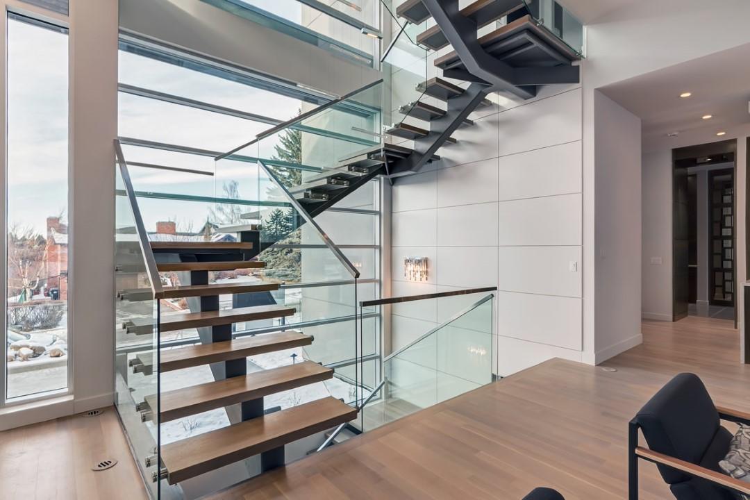Calgary Interior Glass Handrail Systems Deck Railings Ac Glass And Mirror