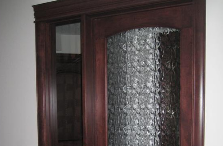 Calgary Pattern Frameless Glass Cabinet Doors Ac Glass