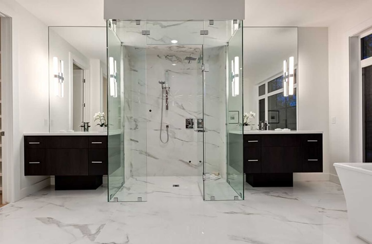 Calgary shower doors frameless shower enclosures ac glass and mirror ac glass mirror custom shower enclosures planetlyrics Image collections